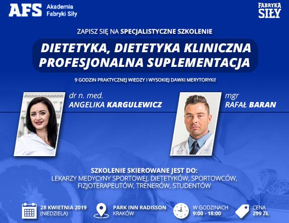 Akademia Fabryki Siły - Dietetyka, dietetyka kliniczna i profesjonalna suplementacja