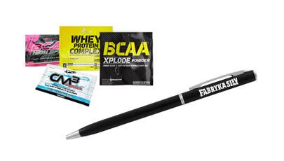 Długopis + losowa próbka