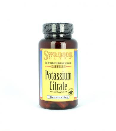 Swanson Potassium Citrate [Cytrynian Potasu] - 120kaps.
