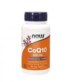 NOW Foods Coenzyme Q10 200mg - 60kaps.
