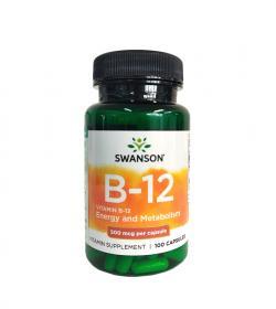 Swanson Vitamin B-12 (500mcg) - 100kaps.