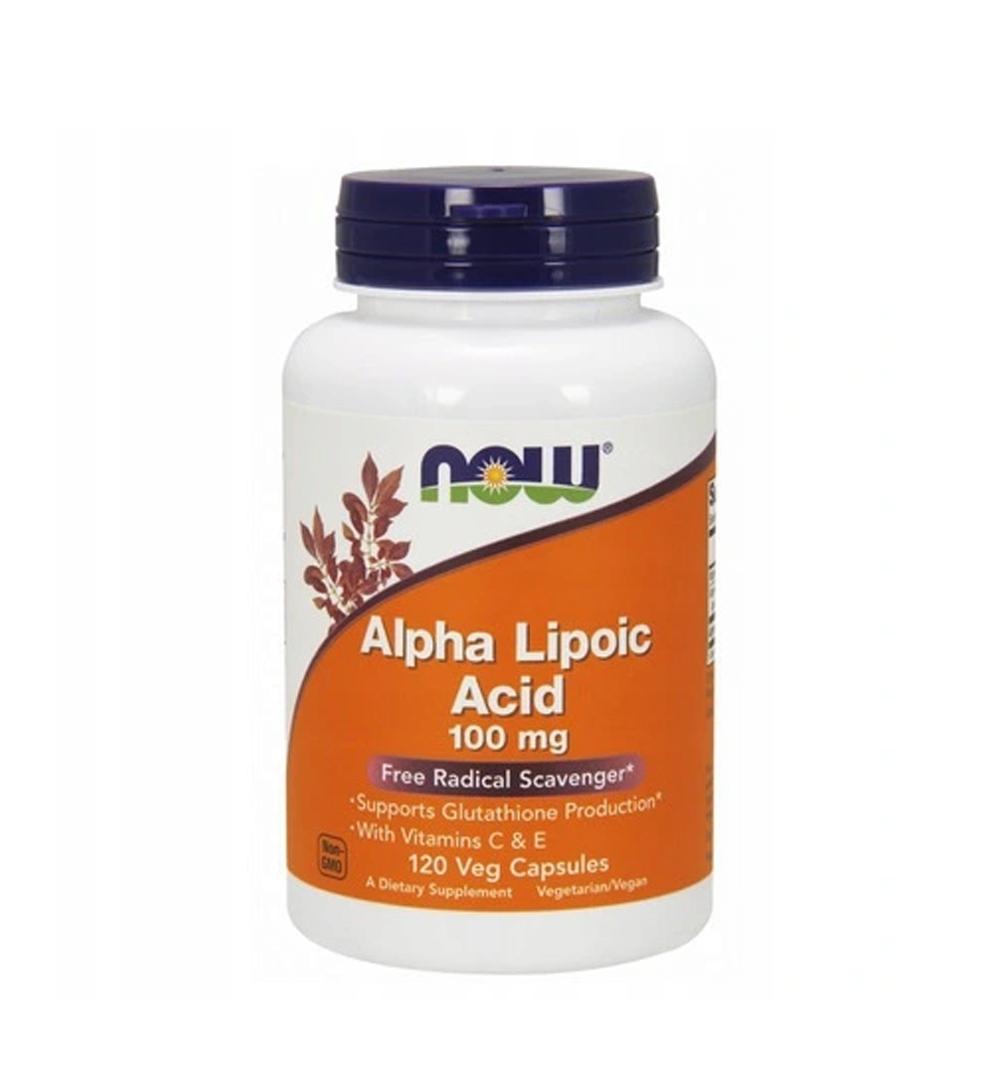 NOW Foods Alpha Lipoic Acid (100mg) - 120kaps.