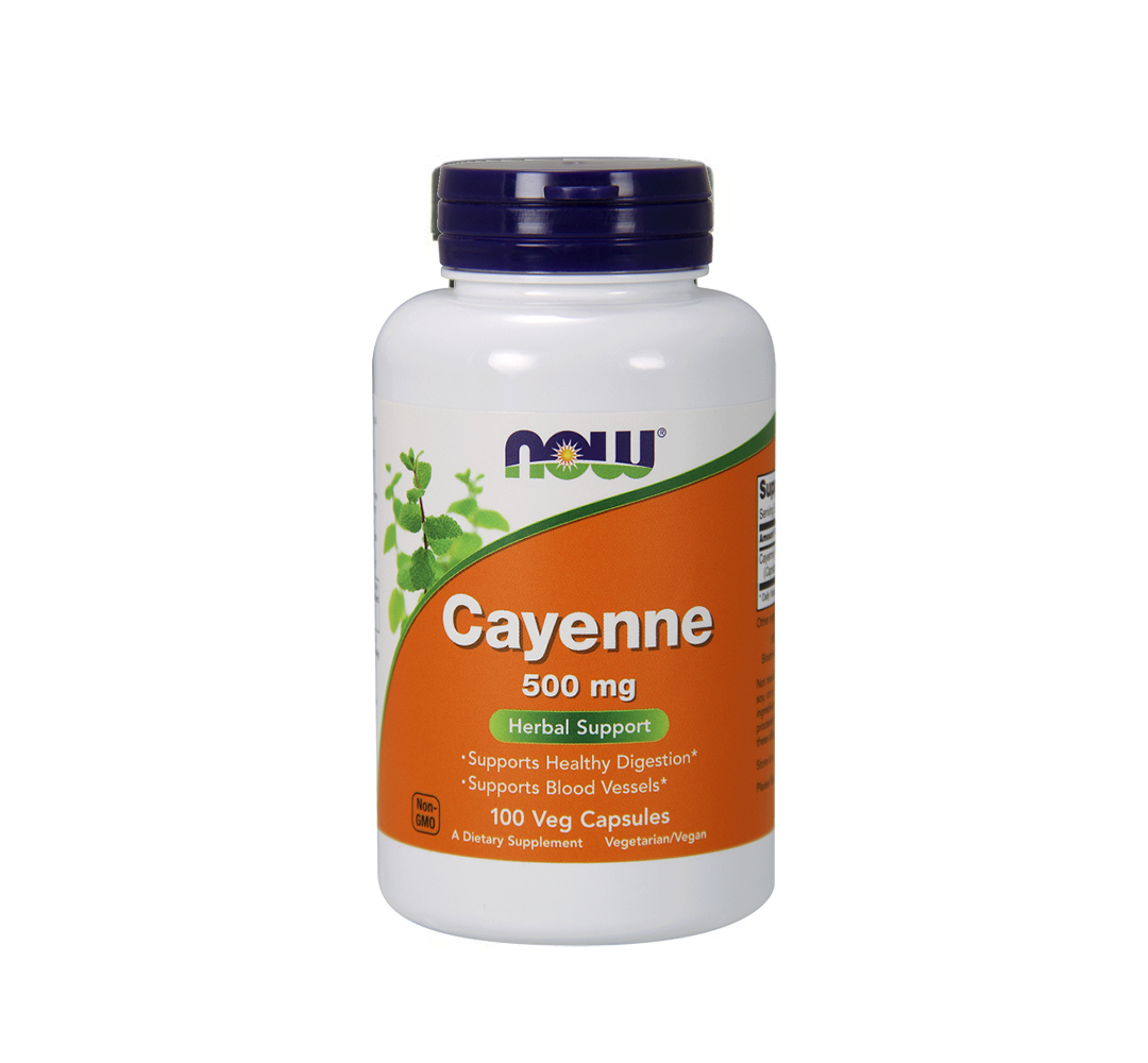 NOW Foods Cayenne (500mg) - 100kaps.