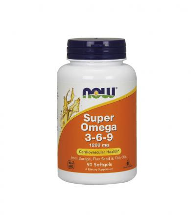 NOW Foods Super Omega 3-6-9 (1200mg) - 90kaps.
