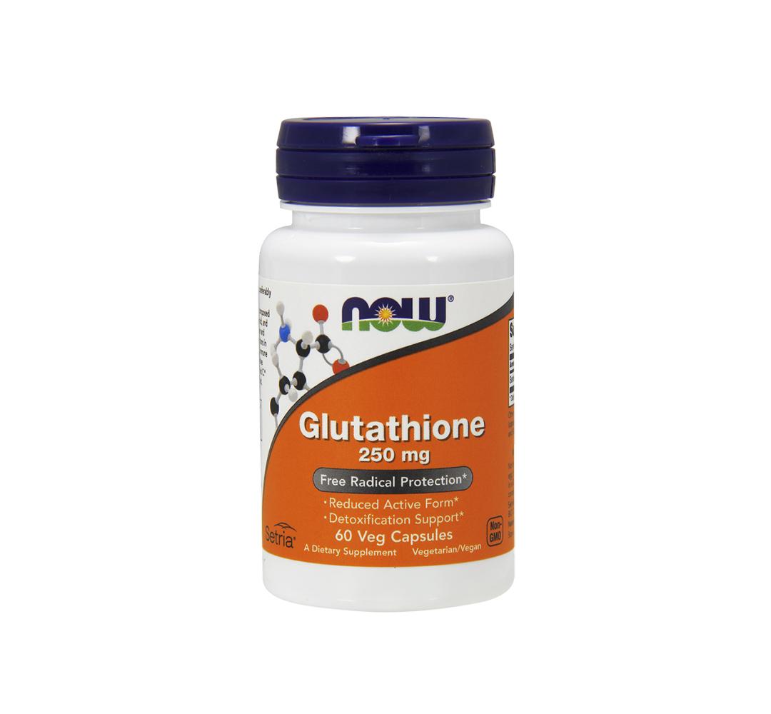 NOW Foods Glutathione (250 mg) - 60 kaps.