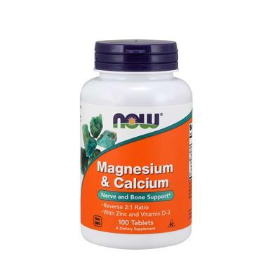 NOW Foods Magnesium & Calcium with Zinc & Vitamin D3 - 100tabl.