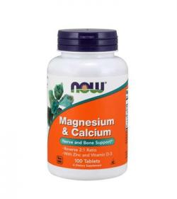 NOW Foods Magnesium & Calcium with Zinc & Vitamin D3 - 100tabl.