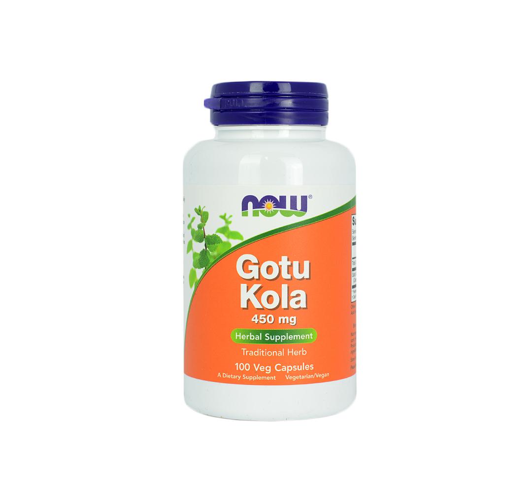 NOW Foods Gotu Kola (450mg) - 100kaps.