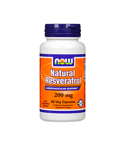 NOW Foods Resveratrol Natural (200mg) - 60kaps.