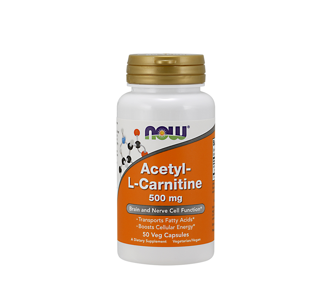 NOW Foods Acetyl-L-Carnitine (500mg) -  100kaps.