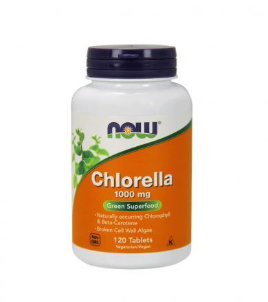 NOW Foods Chlorella 1000 mg - 120tabl.