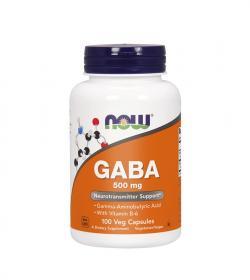 NOW Foods GABA (500 mg) - 100 kaps.