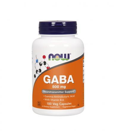 NOW Foods GABA (500 mg) - 100kaps.