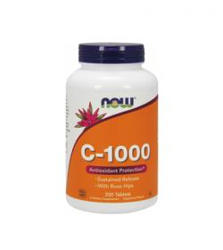 NOW Foods Vitamin C-1000 Sustained Release - 250tabl.