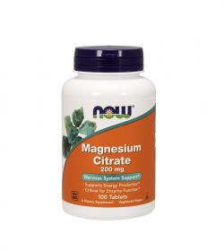NOW Foods Magnesium Citrate (200 mg) - 100 tabl.