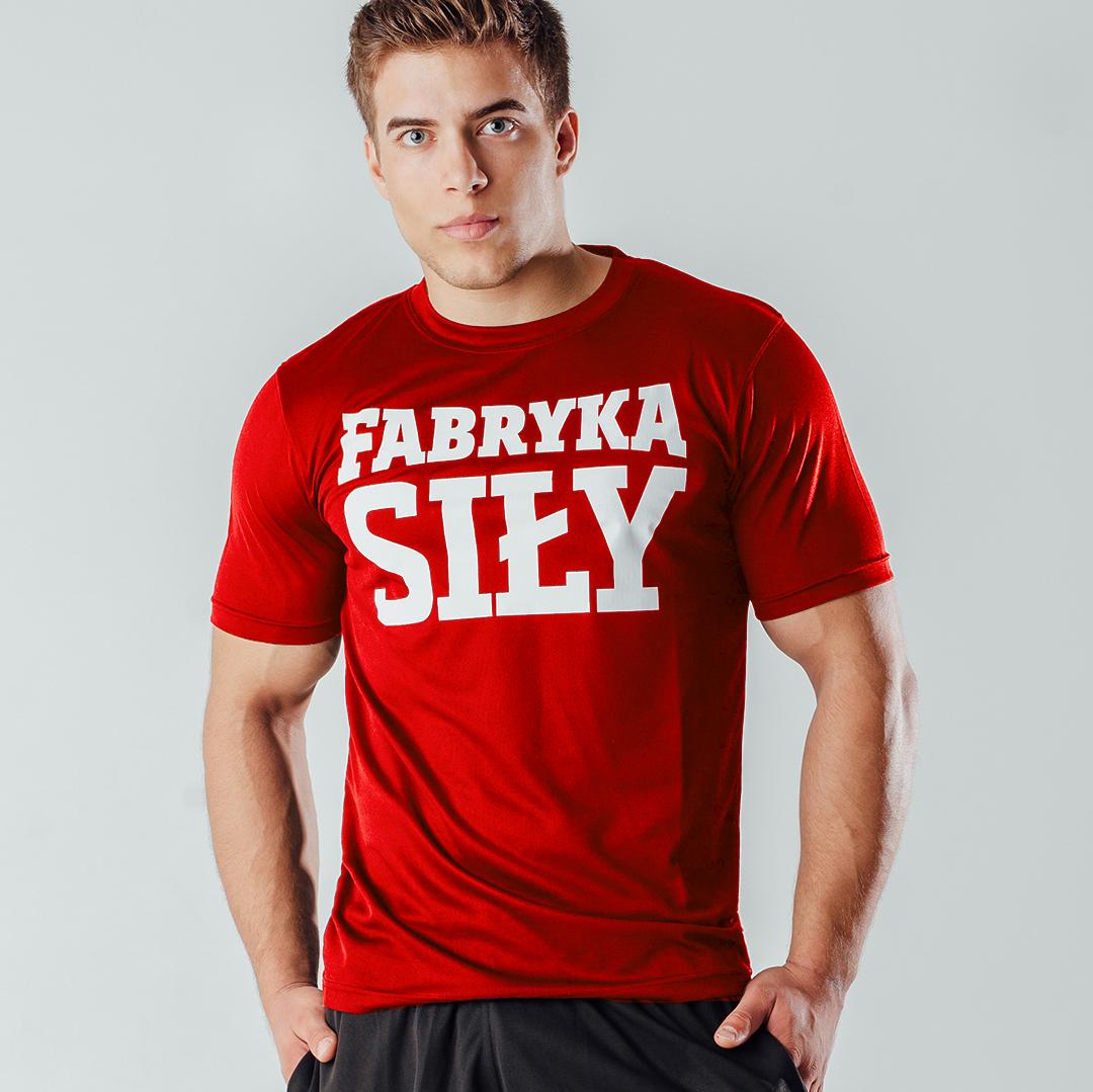 Fabryka Siły T-shirt Red - 1szt.