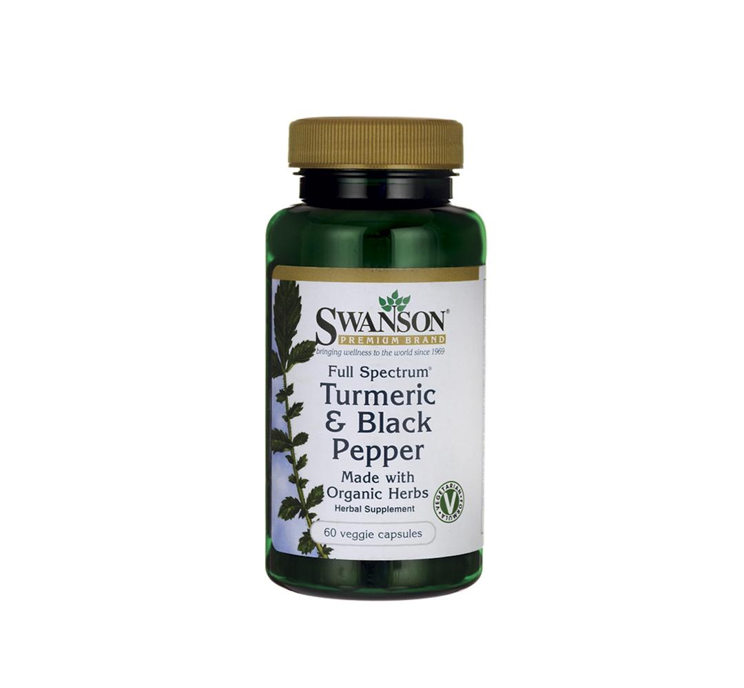 Swanson Turmeric & Black pepper - 60kaps.