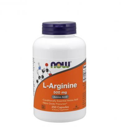 NOW Foods L-Arginine 500mg - 250kaps.