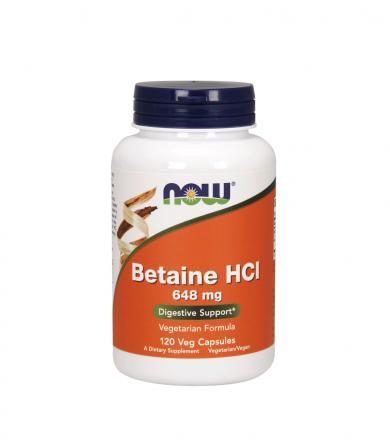 NOW Foods Betaine HCL - 120kaps.