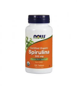 NOW Foods Spirulina (500 mg) - 60 kaps.