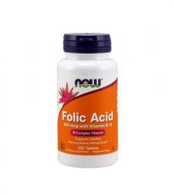 NOW Foods Folic Acid (800mcg) - 250tabl.