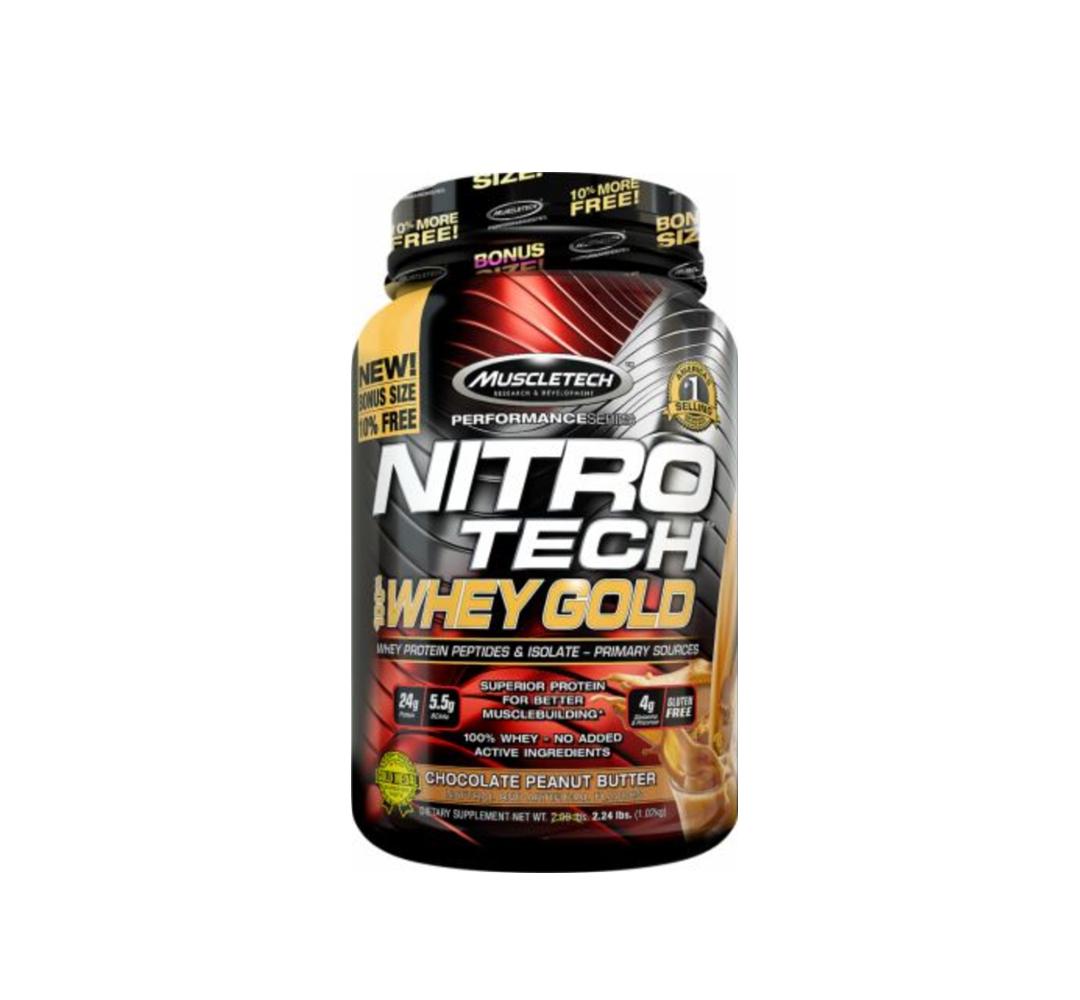 MuscleTech Nitro Tech 100% Whey Gold - 2724g