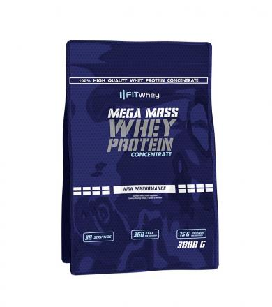 FitWhey Mega Mass Whey Protein Concentrate - 3000 g