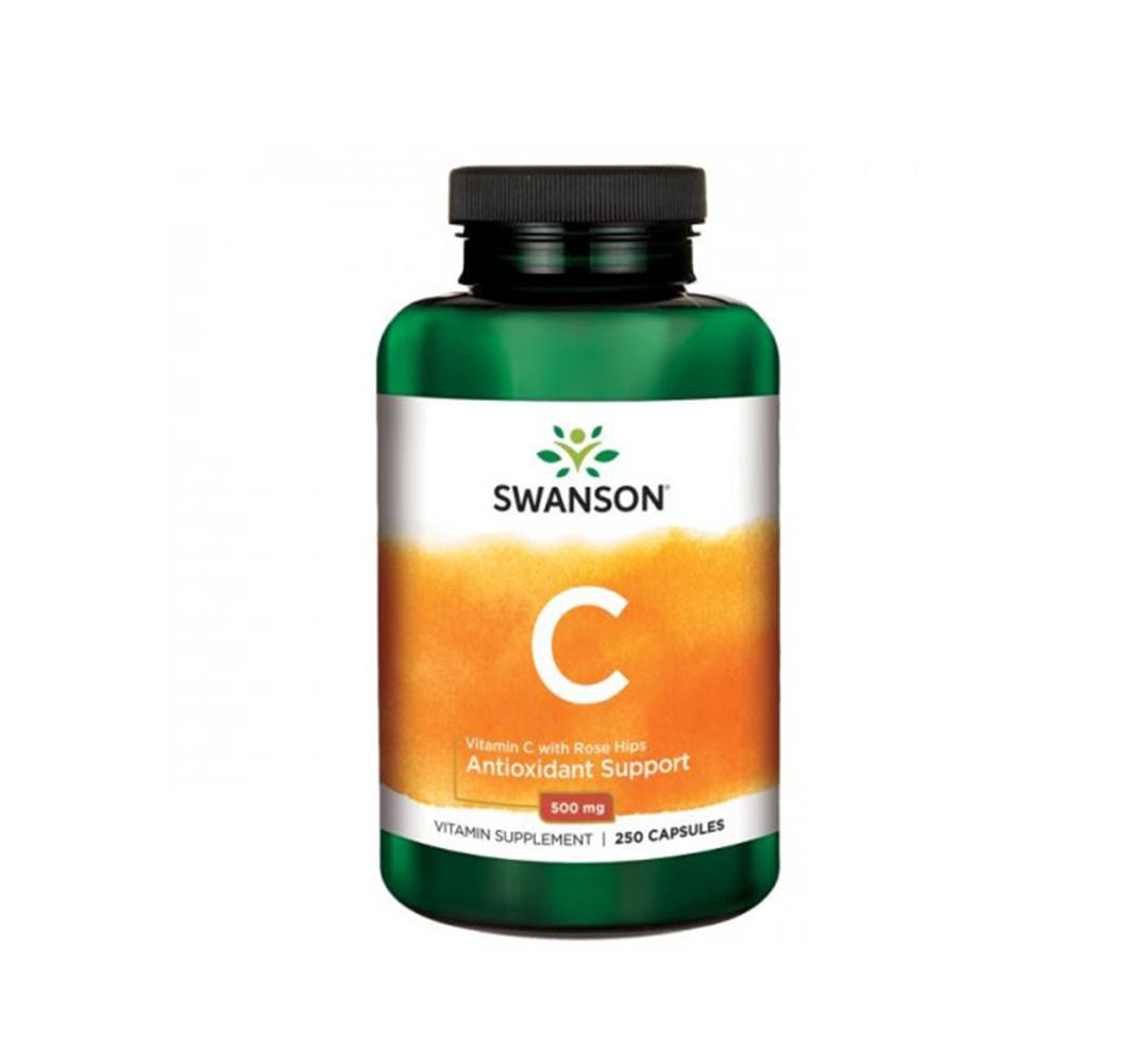 Swanson Vitamin C with Rose Hips - 250kaps.