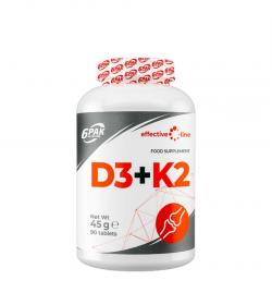 6PAK Nutrition Effective Line D3 + K2 - 90tabl.