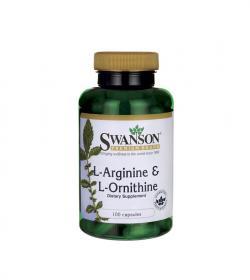 Swanson L-Arginina & L-Ornityna - 100kaps.
