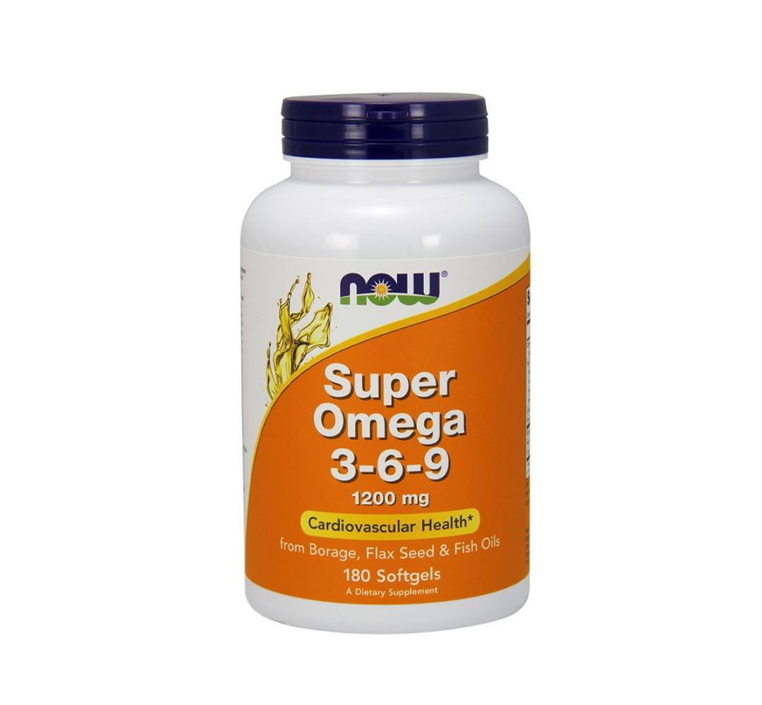 NOW Foods Super Omega 3-6-9 - 180kaps.