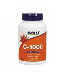 NOW Foods Vitamin C-1000 with Rose Hips - 100tabl.