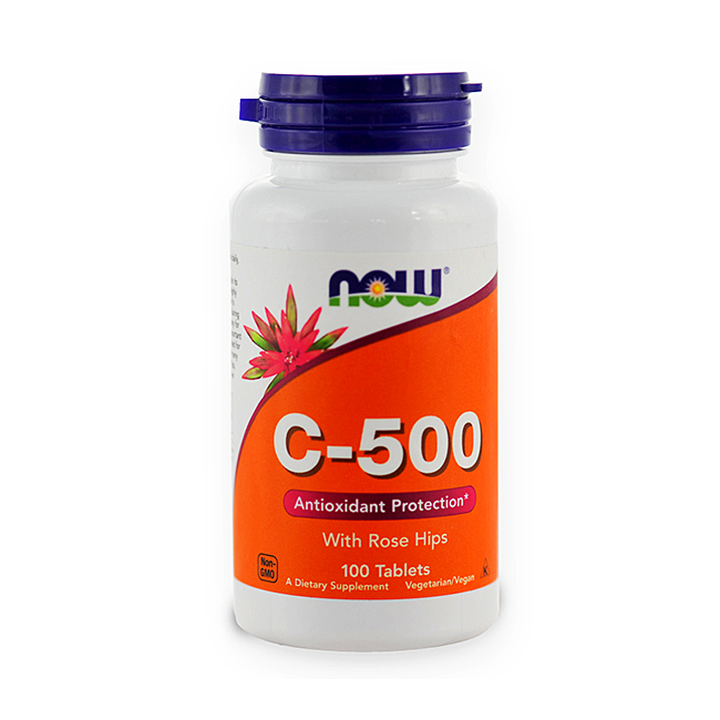 NOW Foods Vitamin C-500 Rose Hips 100tabl.