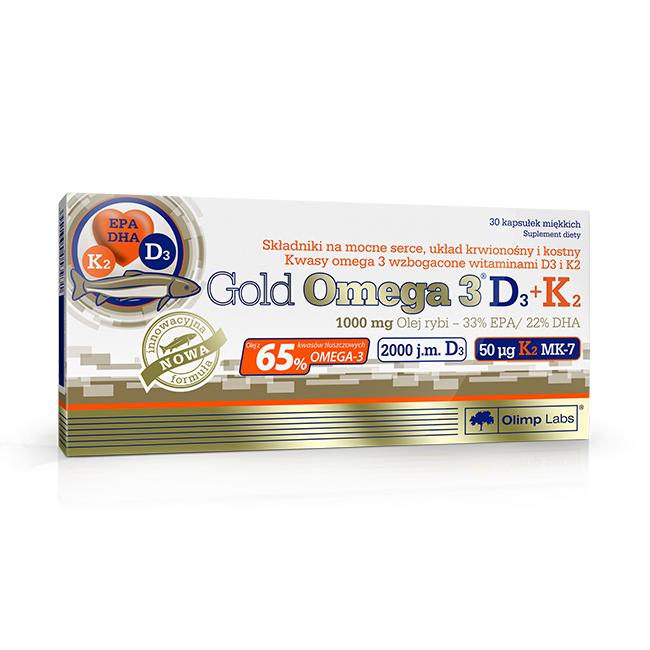 Olimp Gold Omega-3 D3+K2 - 30kaps.