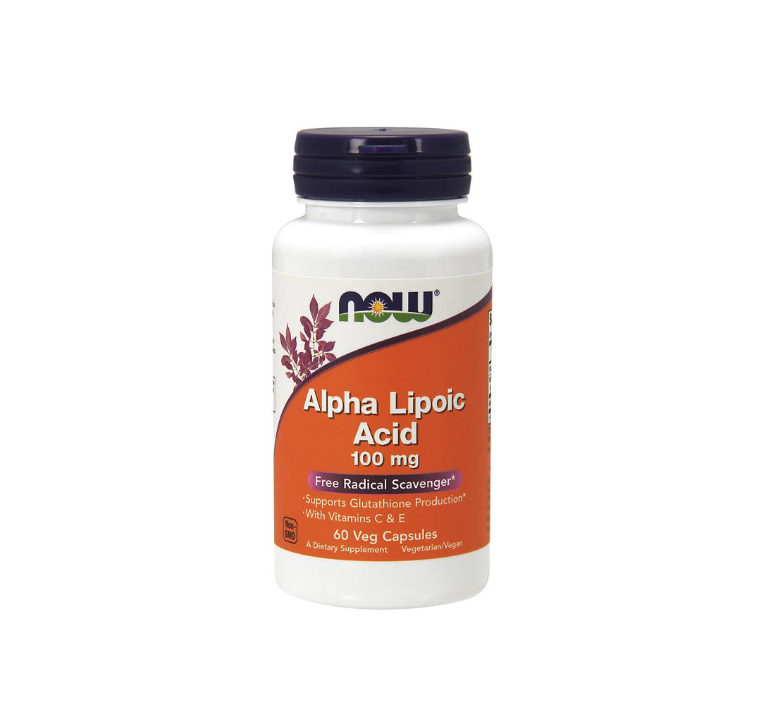 NOW Foods Alpha Lipoic Acid 100mg - 60kaps.