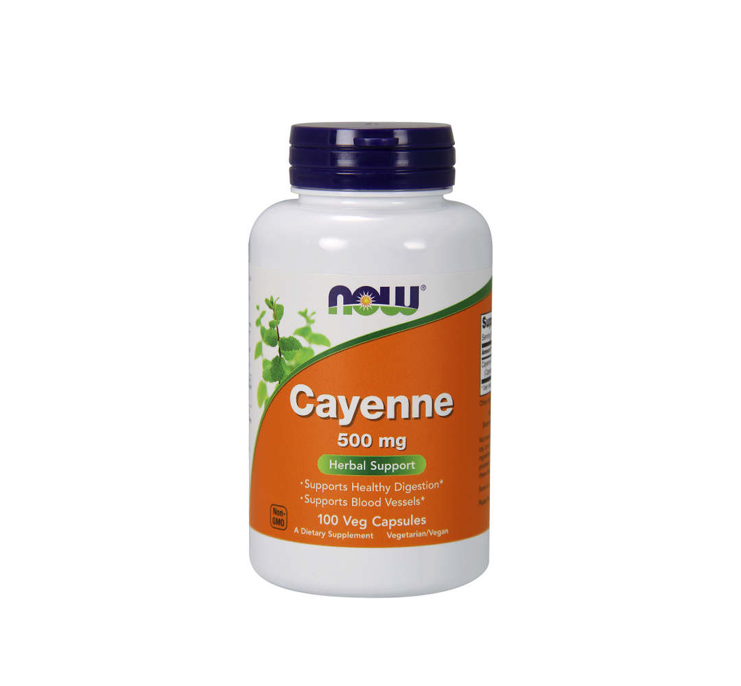 NOW Foods Cayenne (500mg) - 250kaps.
