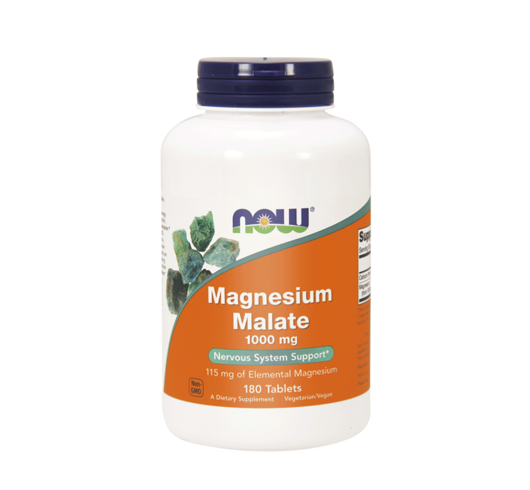 NOW Foods Magnesium Malate - 180tabl.