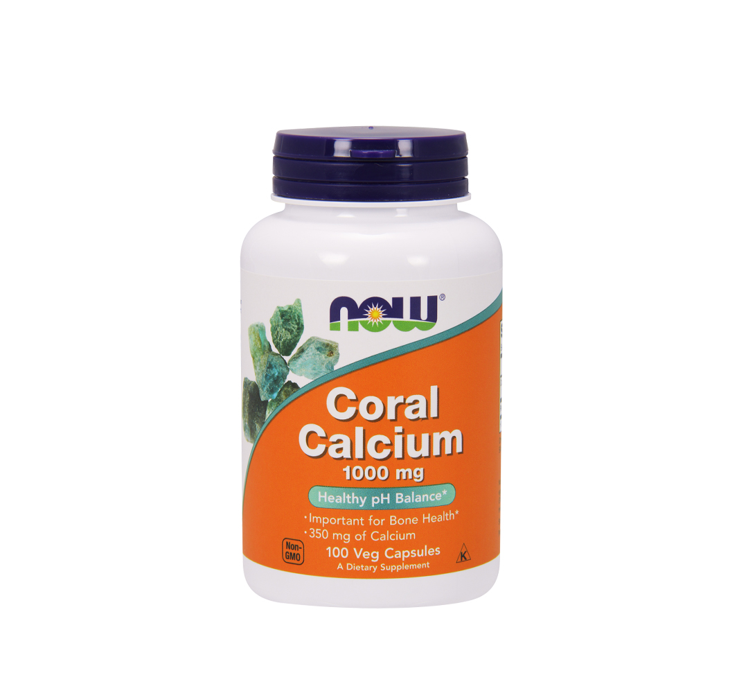 NOW Foods Coral Calcium (1000 mg) - 100kaps.