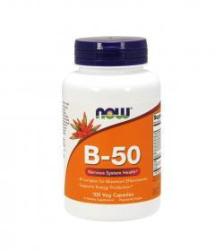 NOW Foods Vitamin B-50 - 100kaps.