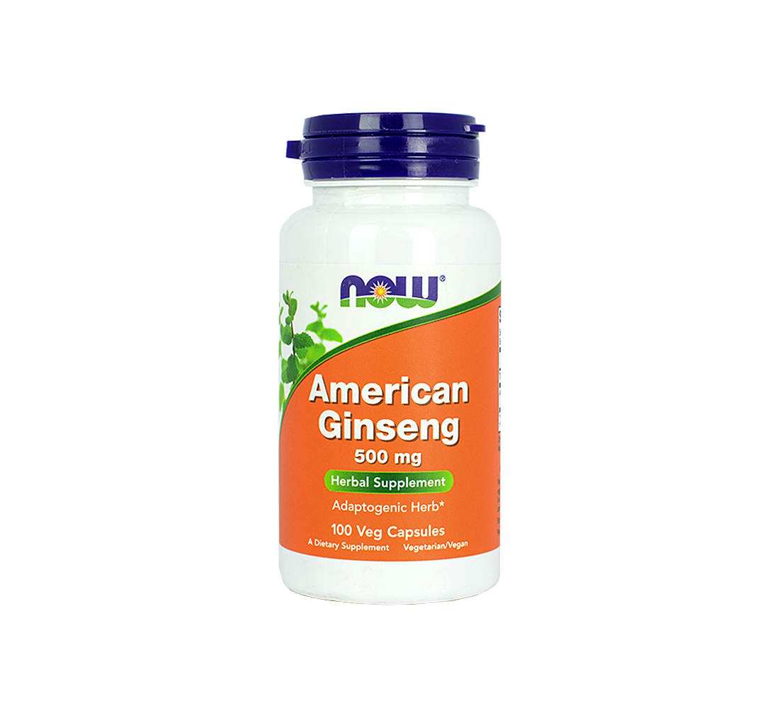 NOW Foods American Ginseng (500mg) - 100kaps.