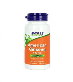 NOW Foods American Ginseng (500 mg) - 100 kaps.
