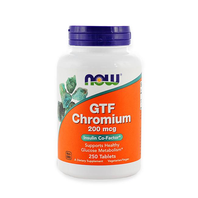 NOW Foods GTF Chromium 200mcg - 100tabl.