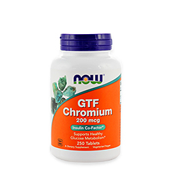 NOW Foods GTF Chromium 200mcg - 100tabl.
