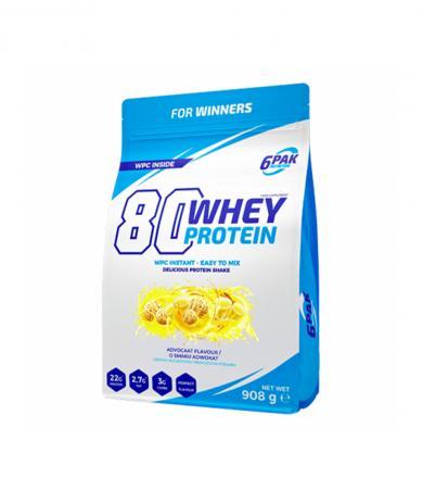 6PAK Nutrition 80 Whey Protein - 908g