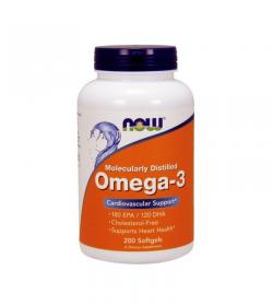 NOW Foods Omega 3 1000mg - 200kaps.