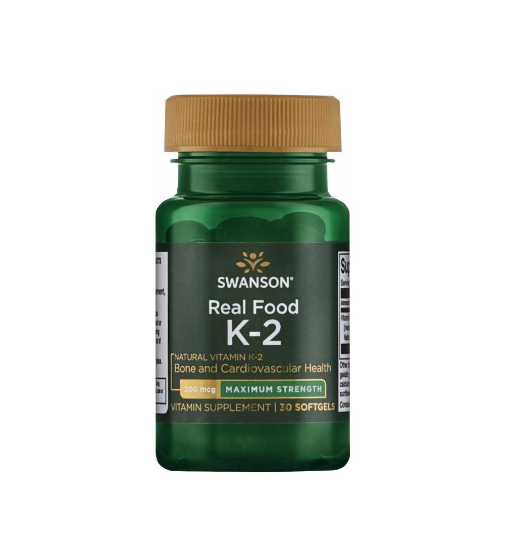 Swanson Witamina K2 naturalna 200mcg - 30kaps.