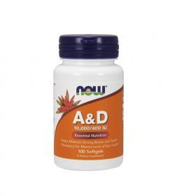 NOW Foods A&D (10000/400 IU) - 100kaps.