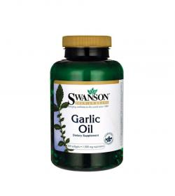 Swanson Garlic Oil - 500 kaps.